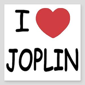 "I heart joplin Square Car Magnet 3"" x 3"""