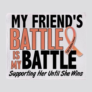 My Battle Too Friend Uterine Cancer Throw Blanket