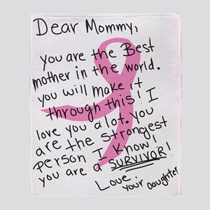 Dear mommy Throw Blanket