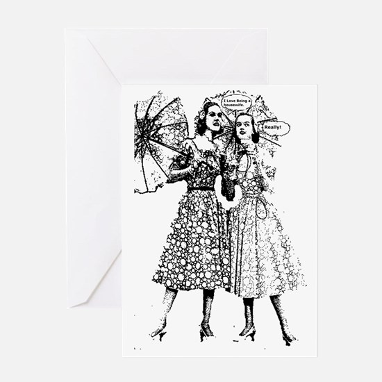 1950 Women Fashion  Greeting Card