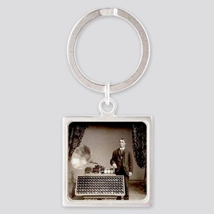 The Phonograph Square Keychain
