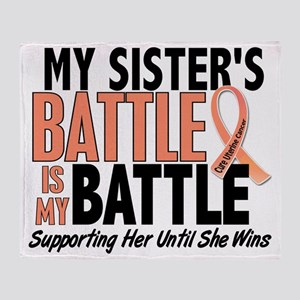My Battle Too Sister Uterine Cancer Throw Blanket