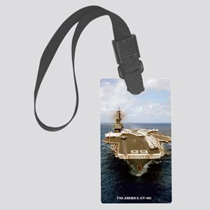 uss america cv mini poster Large Luggage Tag