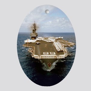 uss america cv mini poster Oval Ornament