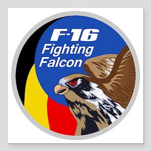 "F-16 Fighting Falcon - B Square Car Magnet 3"" x 3"""