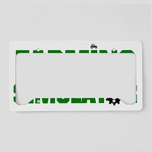 Farming License Plate Holder