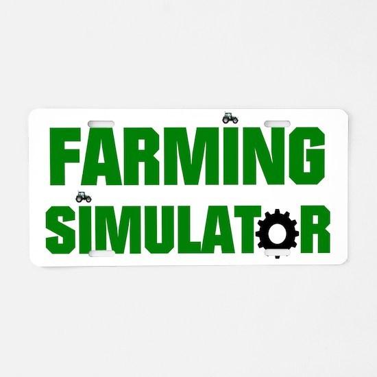 Farming Aluminum License Plate