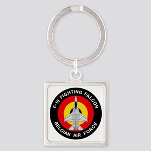 F-16 Fighting Falcon - Belgian Air Square Keychain