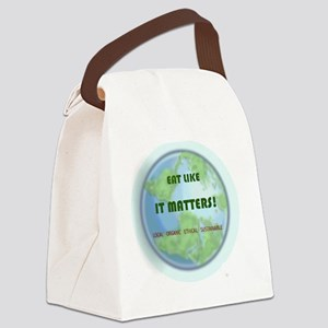 Eat Like It Matters Canvas Lunch Bag