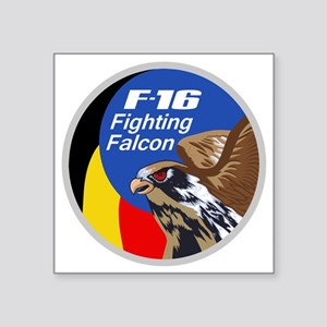 """F-16 Fighting Falcon - Belg Square Sticker 3"""" x 3"""""""