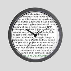 Protein Everywhere! Wall Clock
