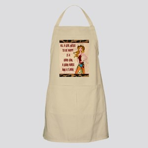 All A Cowgirl Needs Apron