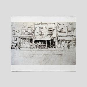 The Fish Shop - Whistler - c1880 Throw Blanket