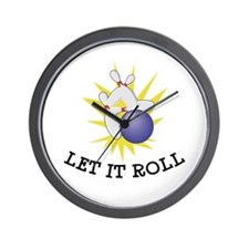 Let It Roll Bowling Wall Clock