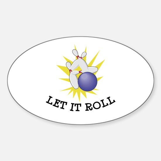 Let It Roll Bowling Oval Decal