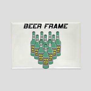 Beer Frame Bowling Rectangle Magnet