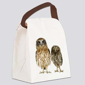 Owl Duo Canvas Lunch Bag