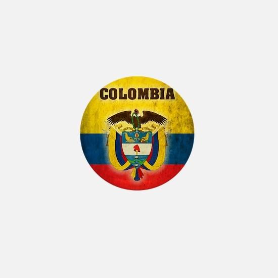Vintage Colombia Mini Button