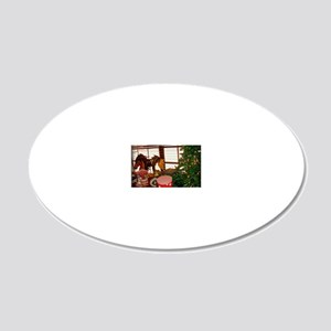 Home for the Holidays 20x12 Oval Wall Decal