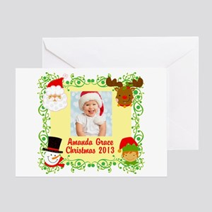 Customize Baby's Christmas Greeting Card