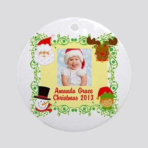 Customize Baby's Christmas Ornament (Round)