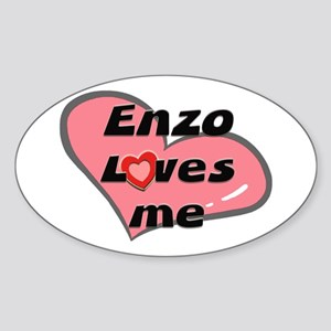 enzo loves me Oval Sticker