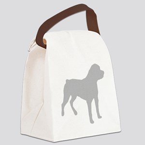 Rottweiler Silhouette Canvas Lunch Bag