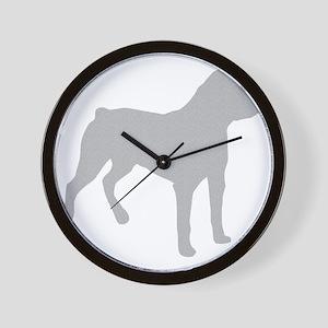 Rottweiler Silhouette Wall Clock