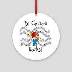 1st Grade Rocks Ornament (Round)