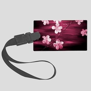 Cherry Blossom Night Shadow Large Luggage Tag