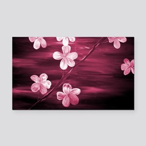 Cherry Blossom Night Shadow Rectangle Car Magnet