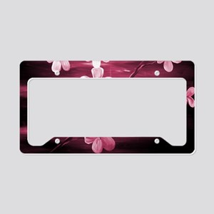 Cherry Blossom Night Shadow License Plate Holder