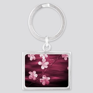 Cherry Blossom Night Shadow Landscape Keychain