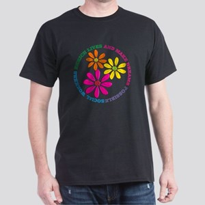 SOCIAL WORKER CIRCLE DAISIES Dark T-Shirt