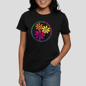 SOCIAL WORKER CIRCLE DAISIES Women's Dark T-Shirt