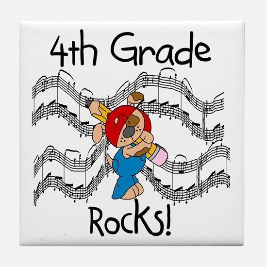 4th Grade Rocks Tile Coaster