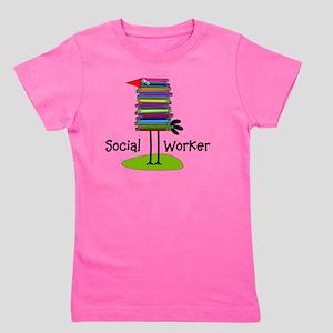 Social Worker Bird Books Girl's Tee