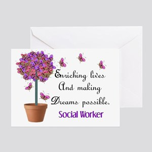 Social worker butterfly tree Greeting Card