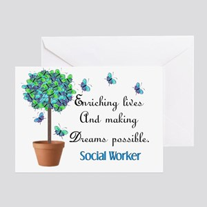 Social worker Butterfly Quote Greeting Card