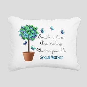 Social worker Butterfly  Rectangular Canvas Pillow