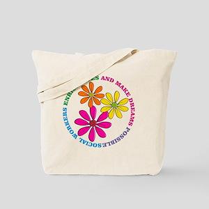 SOCIAL WORKER CIRCLE DAISIES Tote Bag