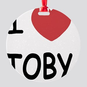 I heart TOBY Round Ornament