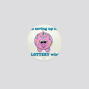 Lottery Piggy Bank Mini Button