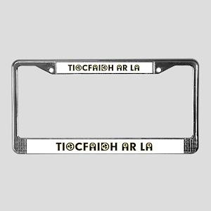 Tiocfaidh Ar La (Shamrock) License Plate Frame