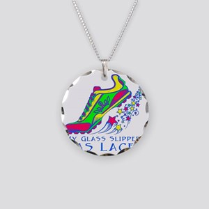 Running Shoe Necklace Circle Charm