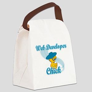 Web Developer Chick #3 Canvas Lunch Bag