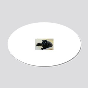 Black cat 20x12 Oval Wall Decal
