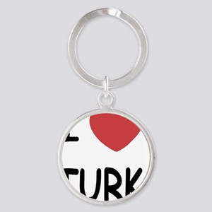 I heart TURK Round Keychain