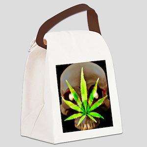 WeedSkull1 Canvas Lunch Bag