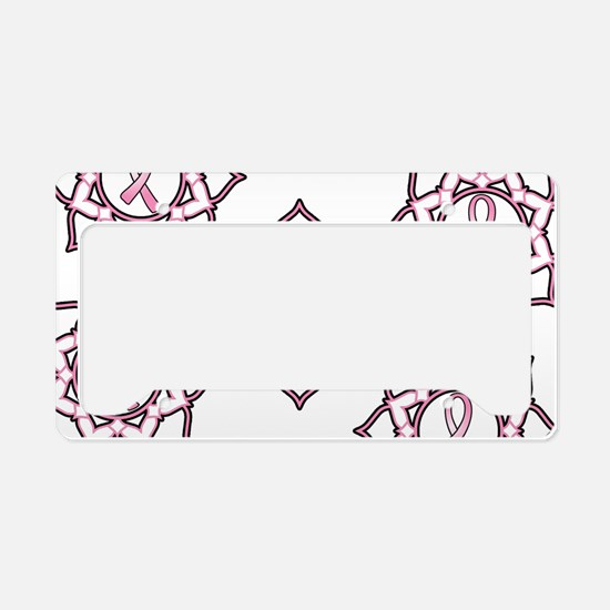 Lotus Breast Cancer License Plate Holder